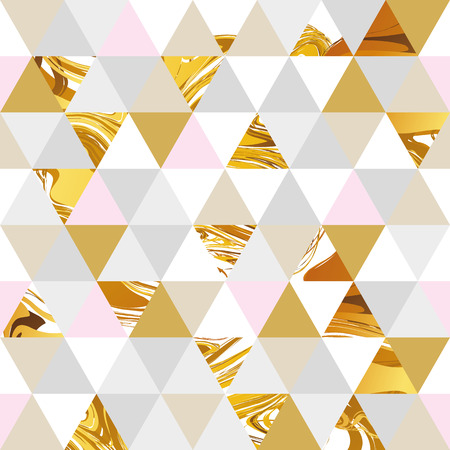 Geometric marble seamless marble gold pattern background. Color geometric background for flyer, poster, marketing, card, banner, web header. Marble golden colorful background