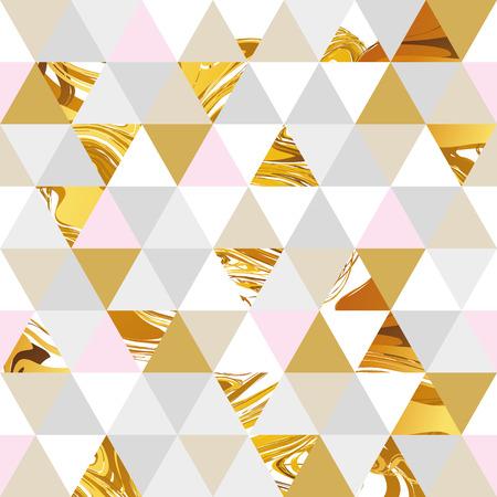 Geometryczny marmur bez szwu marmur wzór złota tła. Kolor geometryczne tło dla ulotki, plakat, marketing, karta, baner, nagłówek internetowy. Marmur złote tło kolorowe