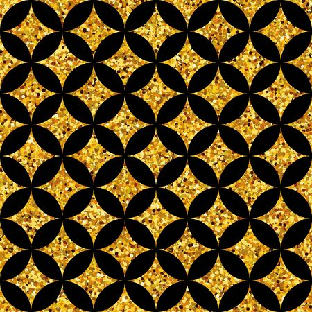 web backdrop: Gold glitter background. Geometric seamless pattern. Happy new year vintage backdrop. For banners, greeting card decor. Poster, banner, web header and marketing. Sale, shopping and advertising pack.