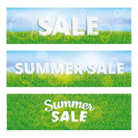 grass texture: Sale summer green grass texture. Summer sale pattern background Stock Photo