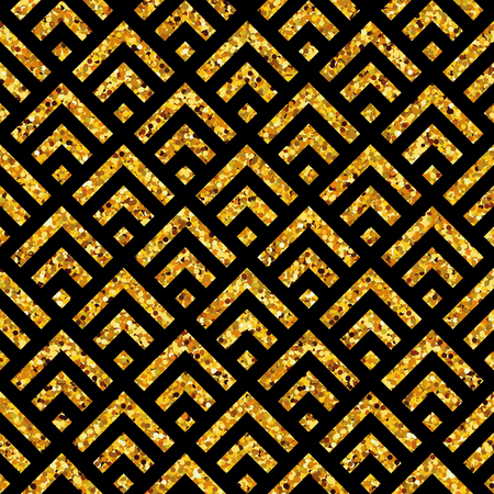 Gold glitter background. Geometric seamless pattern. Happy new year vintage backdrop. For banners, greeting card decor. Poster, banner, web header and marketing. Sale, shopping and advertising pack.