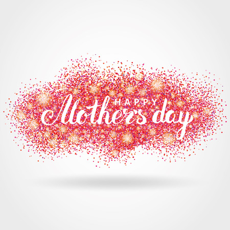 Happy mother day pink glitter background