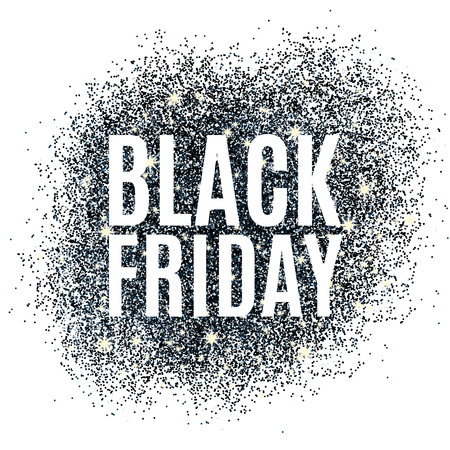 Black friday sale glitter background. Black shine sparkles background. Black friday sale for  web, header and design. Christmas and new year shopping.