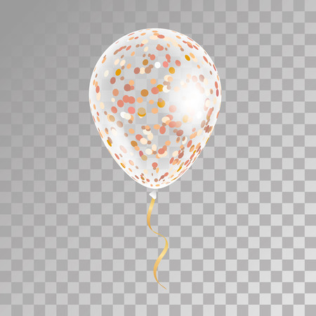 White transparent balloon on background. Frosted party balloons for event design. Balloons isolated in the air. Party decorations for birthday, anniversary, celebration. Shine transparent balloon.