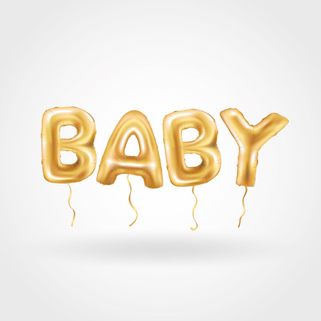 gold: Gold baby balloons