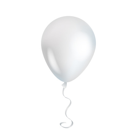 White transparent balloon on background. Çizim