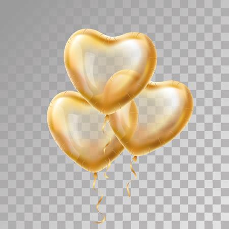 balloon background: Heart Gold balloon on background.