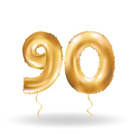 ninety: number ninety metallic balloon