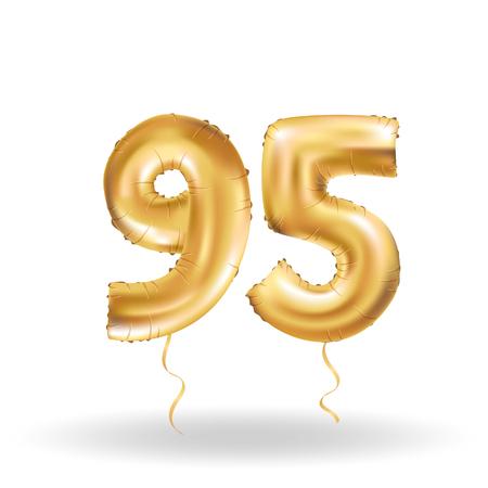 ninety: number ninety five metallic balloon