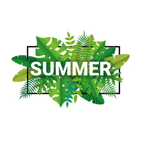 Tropical summer time paper background Иллюстрация