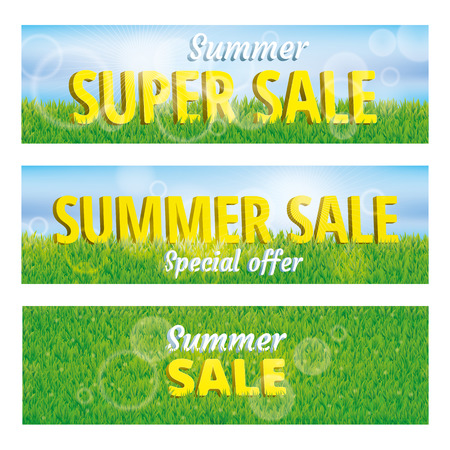 Super sale summer green grass background. Vector pattern, texture, for banners, logo, web, card, vip exclusive certificate, gift luxury voucher, design, spring sale logo welcome