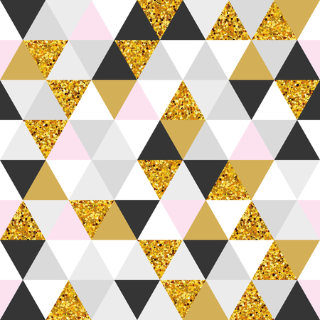 Geometric gold marble seamless pattern background 向量圖像