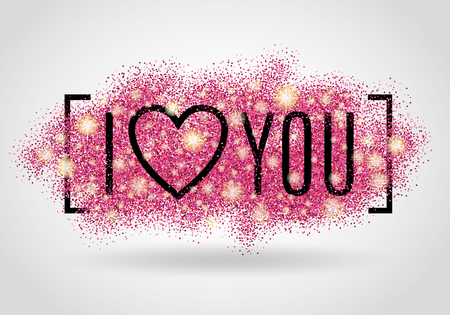 Valentines day background. I love you. Pink background for flyer, poster, sign, banner, web, header. Abstract pinky background for text, type, quote. Red blur background. Illustration