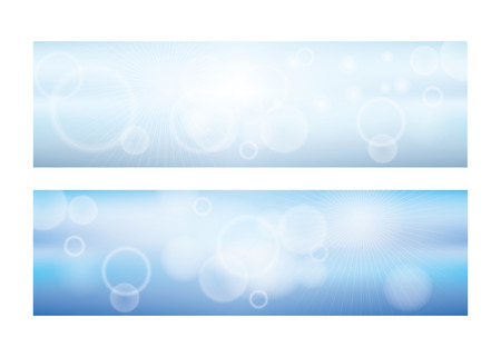 Blue sky clouds banners