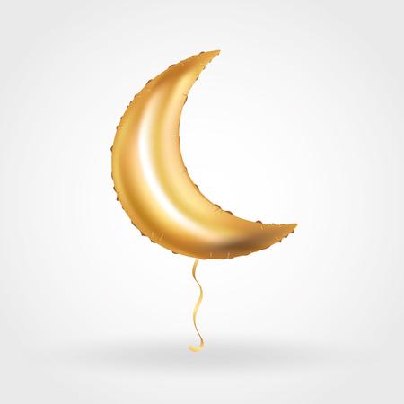 Gold Crescent Moon balloon Ramadan