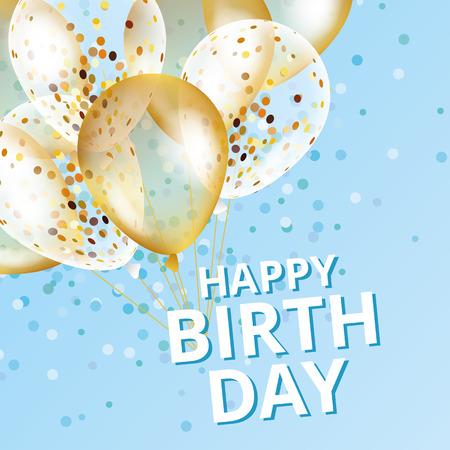 Ballons joyeux anniversaire Banque d'images - 79160218