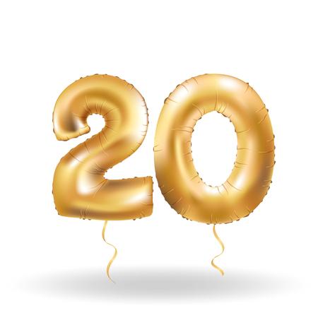 Nummer twintig metallic ballon