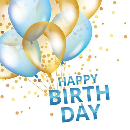バルーン誕生日 写真素材