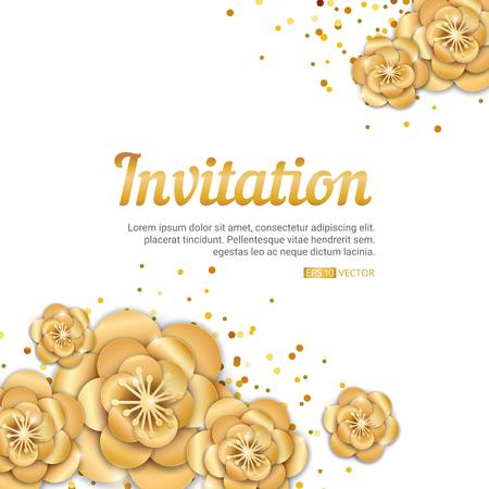 Gold Lotus Blume Einladung Banner ...
