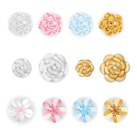 Paper flowers decoration set