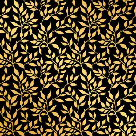 花葉のシームレス パターン  イラスト・ベクター素材