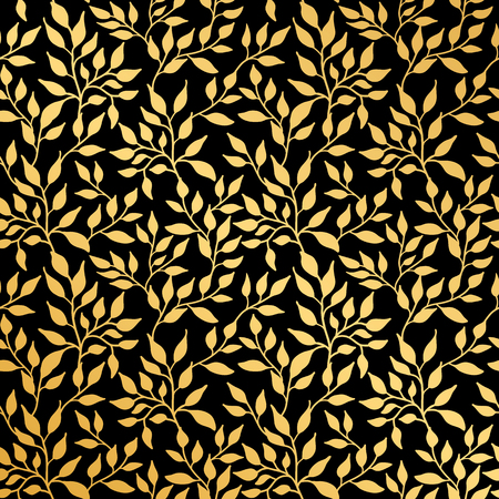 Flowers leaf seamless pattern