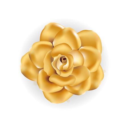 Flor del brillo del oro Foto de archivo - 80821436