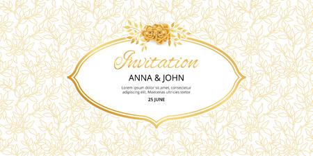 Invitation aux fleurs d'or Banque d'images - 80638806