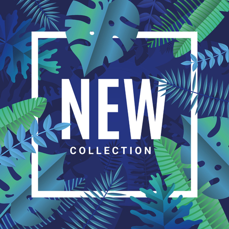 tree logo: Tropical summer new collection