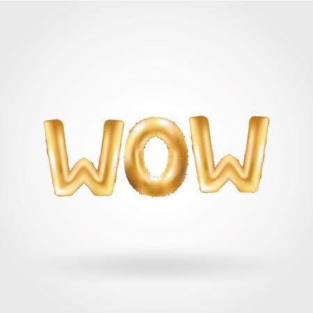 Gold WOW ballonnen karakter