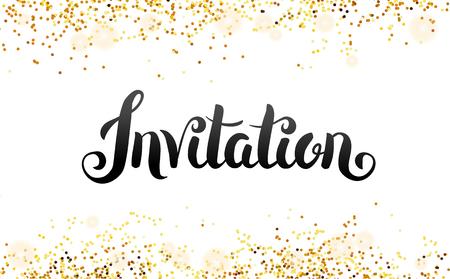 招待、招待するレタリング