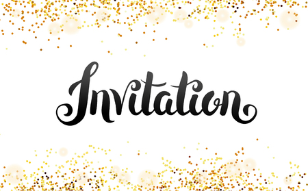 Lettering Invitation You are invited Stock Illustratie