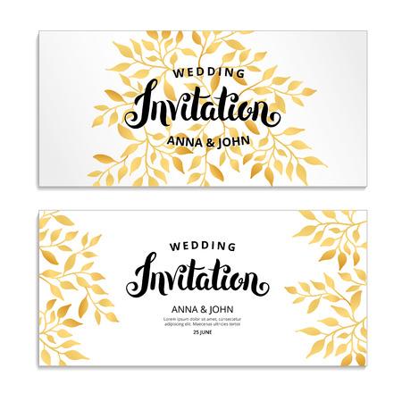 Invitation aux fleurs d'or Banque d'images - 82285140