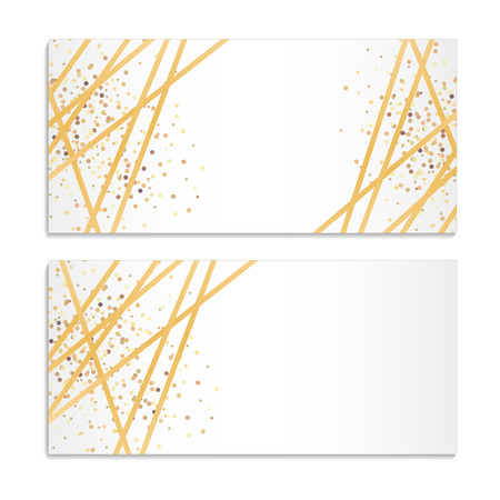 Gold Streamers Sparkles Background