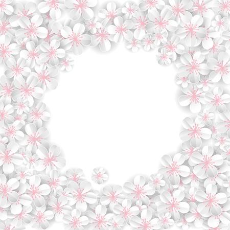 White flowers banner