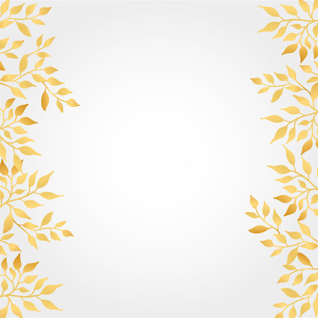 Gold Autumn leaves Background Illustration