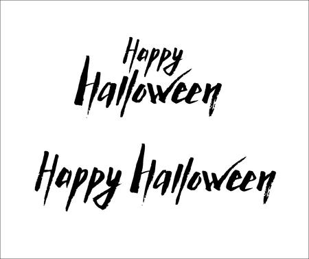 Happy Halloween Logotype Illustration