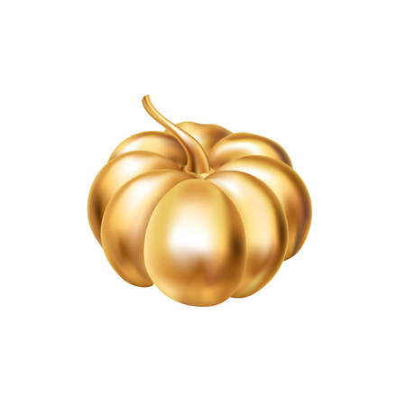 Gold Halloween Pumpkin decoration