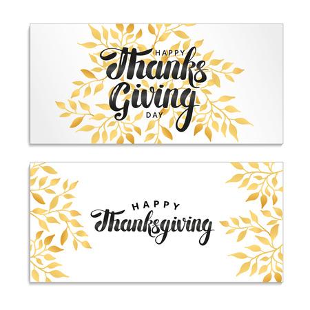 Happy thanksgiving day-kaart. Vector Illustratie