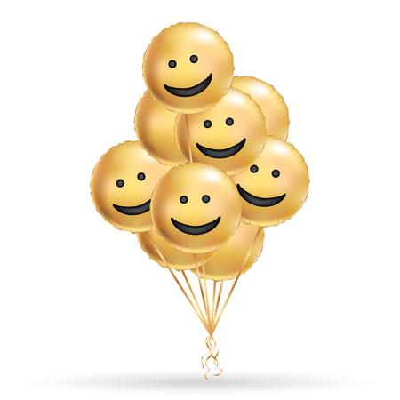 Sorriso Ouro Fundo De Balões Pessoas De Caráter Divertido