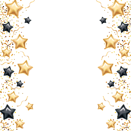 Gold Black star banner background Stock Photo
