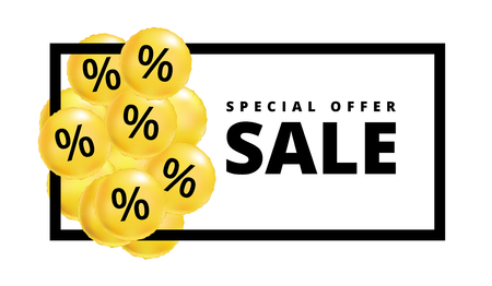 Sale balloons yellow