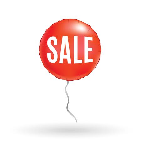 Red sale balloon vector illustration 向量圖像