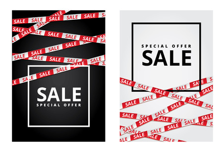 Black friday sale tape ribbon card