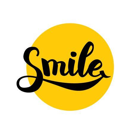 Smile typography . 版權商用圖片