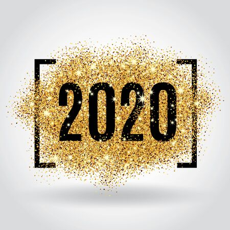 Goldglitter Neujahr Vektorgrafik