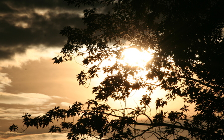 tranquillity: Tranquillity - or not Snapp sunset from the window Stock Photo