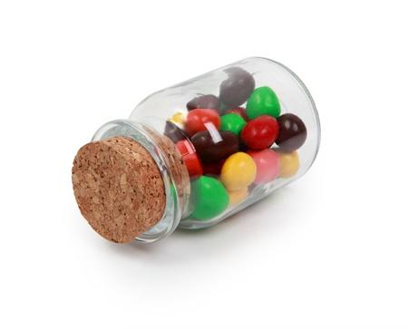 Candy Jar isolated on white photo
