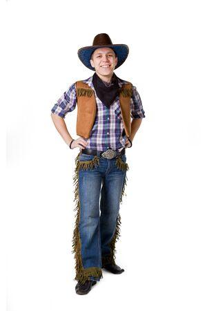 cowboy background: A man in a black cowboy hat