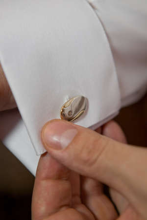 cuff link on groom Stock Photo - 9888498